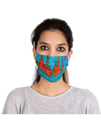 Suti Single Layer Printed Cotton Reusable Masks (Set of 5)