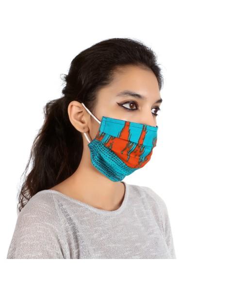 Suti Single Layer Printed Cotton Reusable Masks (Set of 5)