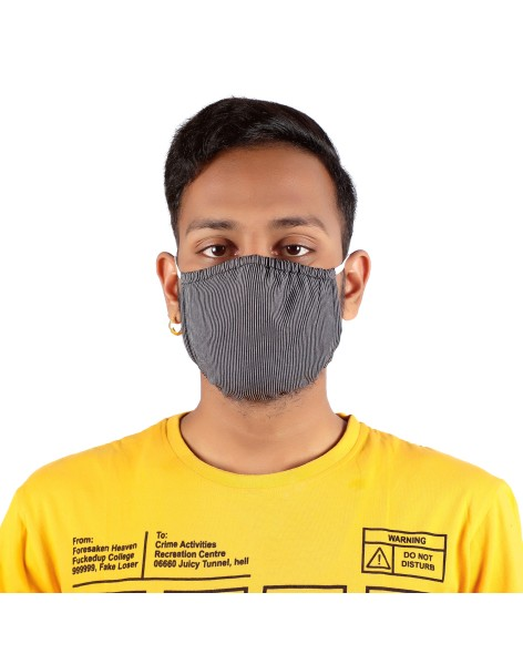 Suti Double Layer Round Printed Cotton Reusable Masks (Set of 5)