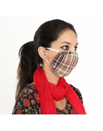 Suti Double Layer Round Printed Cotton Reusable Masks (Set of 5)
