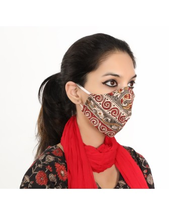 Suti Double Layer Printed Cotton Reusable Masks (Set of 5)