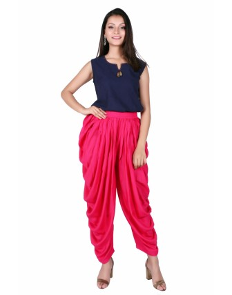Suti Women`s Rayon Solid Comfort Fit Dhoti Pants