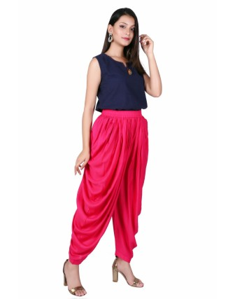Suti Women`s Rayon Solid Comfort Fit Dhoti Pants