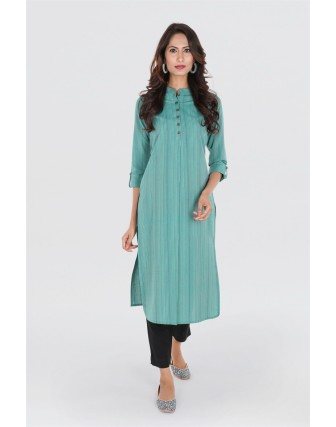 Suti Women`s Cotton Yarn Died Straight Fit Tunic