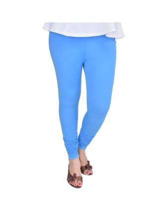Suti Womens Plain Churidhar Leggings, Airforce Blue