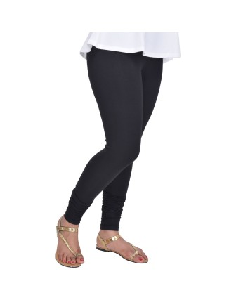 Suti Womens Plain Churidhar Leggings, Black
