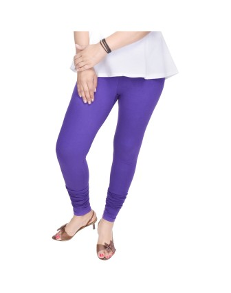 Suti Womens Plain Churidhar Leggings, Blue Violet