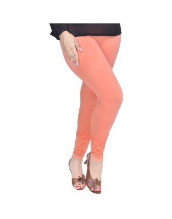 Suti Womens Plain Churidhar Leggings, Carrot Orange