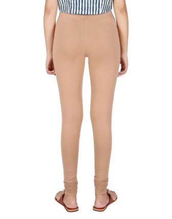 Suti Womens Plain Churidhar Leggings, Fawn