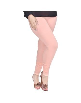 Suti Womens Plain Churidhar Leggings, Peach