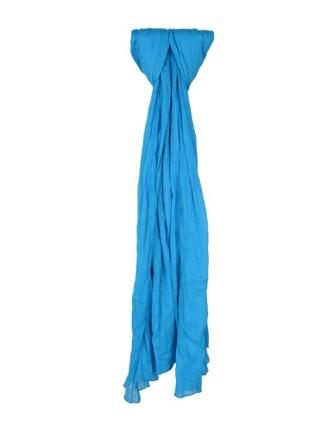 Suti Womens Cotton Plain Dupatta With Lace, Airforce Blue