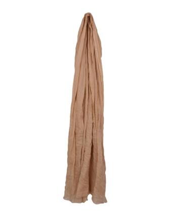 Suti Womens Cotton Plain Dupatta With Lace, Beige
