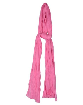 Suti Womens Cotton Plain Dupatta With Lace, Baby Pink