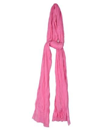 Suti Womens Chiffon Plain Dupatta With Lace, Baby Pink
