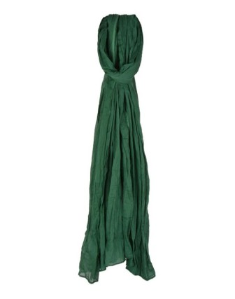 Suti Womens Chiffon Plain Dupatta With Lace, Dark Green