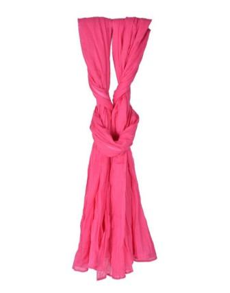 Suti Womens Chiffon Plain Dupatta With Lace, French Rose