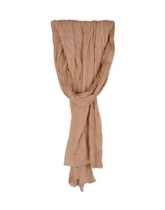 Suti Womens Chiffon Plain Dupatta With Lace, Fawn