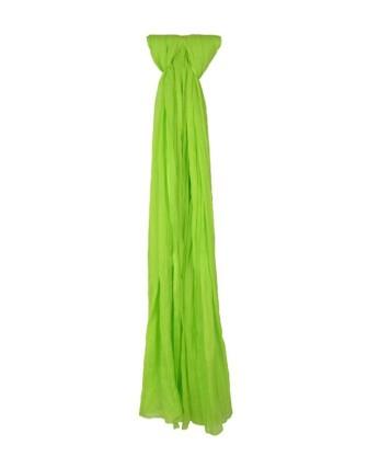 Suti Womens Chiffon Plain Dupatta With Lace, Lime Green