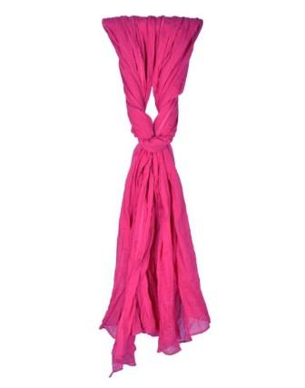 Suti Womens Chiffon Plain Dupatta With Lace, Maharani Pink