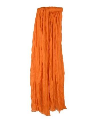 Suti Womens Chiffon Plain Dupatta With Lace, Mustered