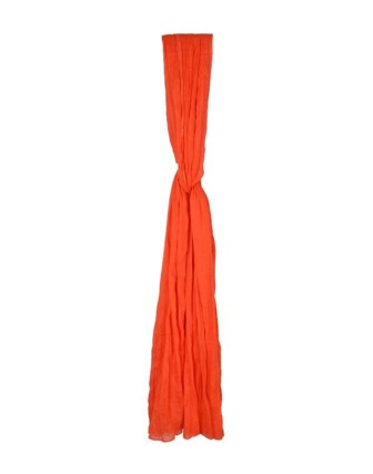 Suti Womens Chiffon Plain Dupatta With Lace, Orange