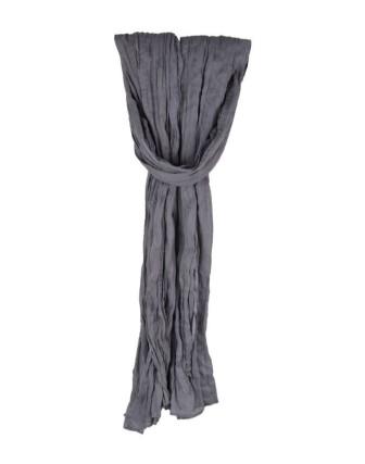 Suti Womens Chiffon Plain Dupatta With Lace, Slate Grey