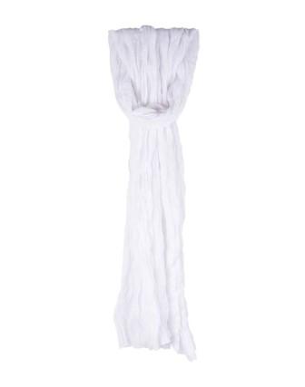Suti Womens Chiffon Plain Dupatta With Lace, White