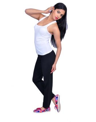 Suti Womens Cotton Lycra Yoga Pant, Black