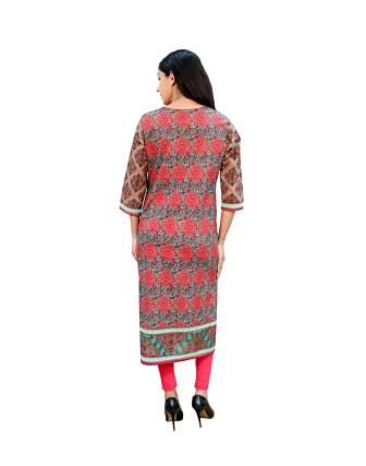 Suti Womens Cotton Kurti, Brown
