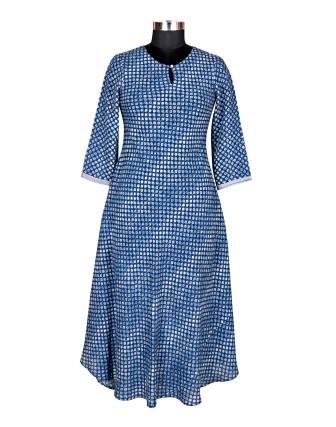 SUTI WOMENS RAYON STAPLE LADIES DRESS, INDIGO BLUE