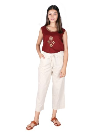 Suti Womens Cotton Flex Culottes, Natural