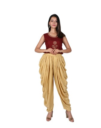 LADIES DHOTI PANT, BEIGE