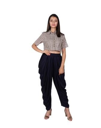 LADIES DHOTI PANT, BLACK