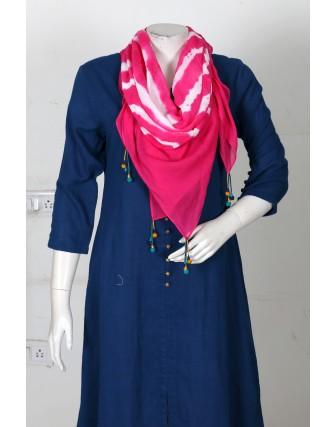 Suti Womens Cotton Tie Dye Scarf, Fuscia