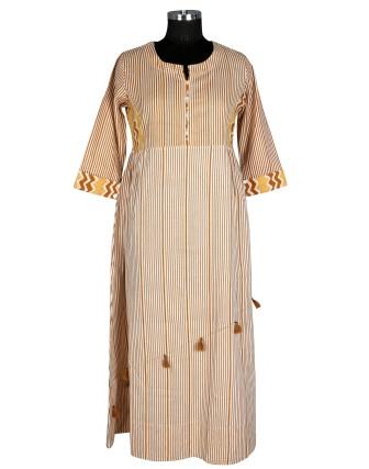 SUTI WOMENS RAYON LADIES DRESS, MUSTERED