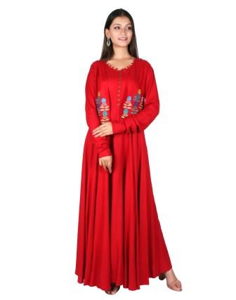 Suti Womens Rayon Staple Dress, Red