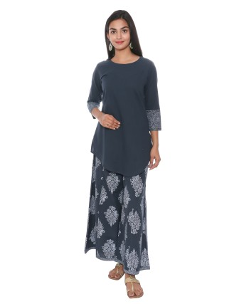 SUTI WOMENS COTTON KURTA SET WITH COMBO, DARK TEAL