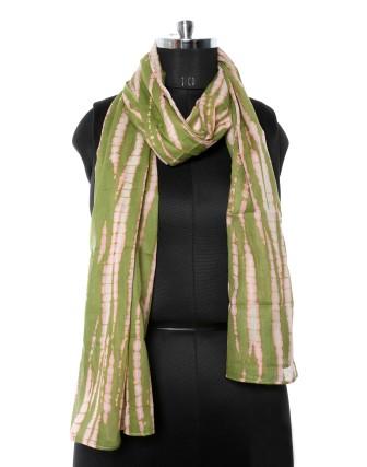Suti Womens Cotton Printed Stole, Green