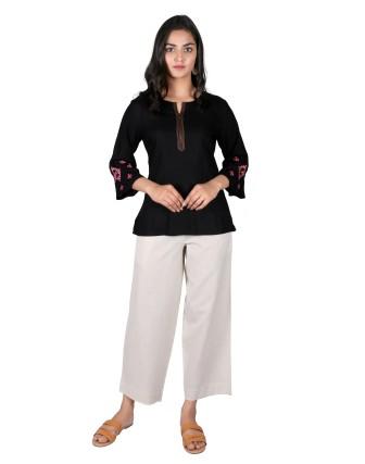 Suti Womens Rayon Staple Top, Black