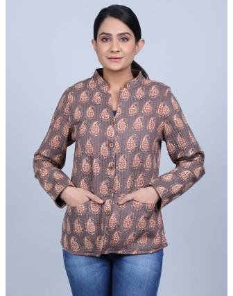 Suti Womens Cotton Regular Fit Jacket, Kashish