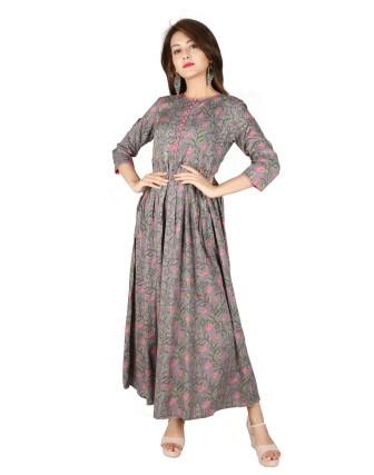 Suti Womens Rayon Dress, Frost Gray