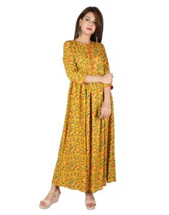 Suti Womens Rayon Dress, Old Gold