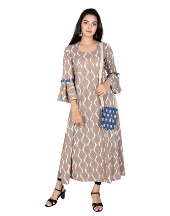 Suti Womens Cotton A Line Fit Dress, Kashish