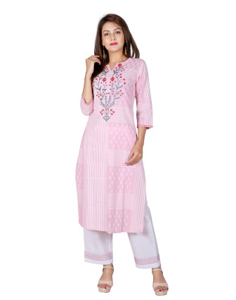 Suti Womens Cotton Straight Fit Combo, Baby Pink