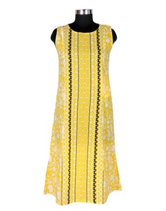 Suti Womens Cotton A Line Fit Kurti, Yellow