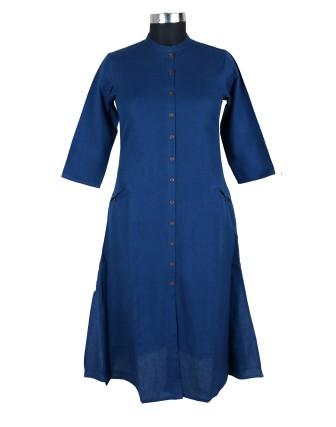 Suti Womens Cotton Flex A Line Fit Kurti, Blue