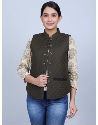Suti Womens Rayonflex Regular Fit Jacket, Hedge Green