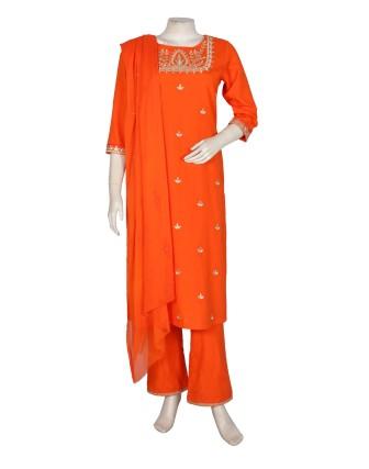 Suti Womens Rayon Flex Straight Fit Combo, Orange