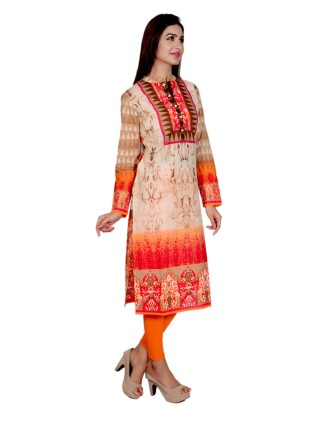 Suti Womens Cotton Kurti, French Rose