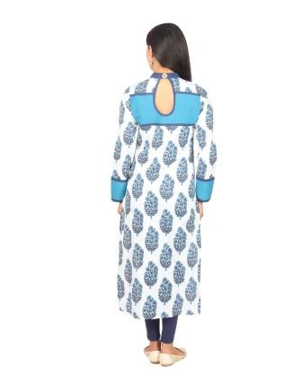 Suti Womens Cotton Cambric Kurti, Dark Teal